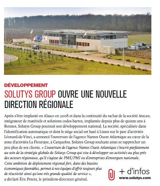 Le développement régional de SOLUTYS Group dans les pages d'Evry Agglo Entreprendre