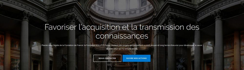 Nouveau site internet pour la Fondation SOLUTYS Group