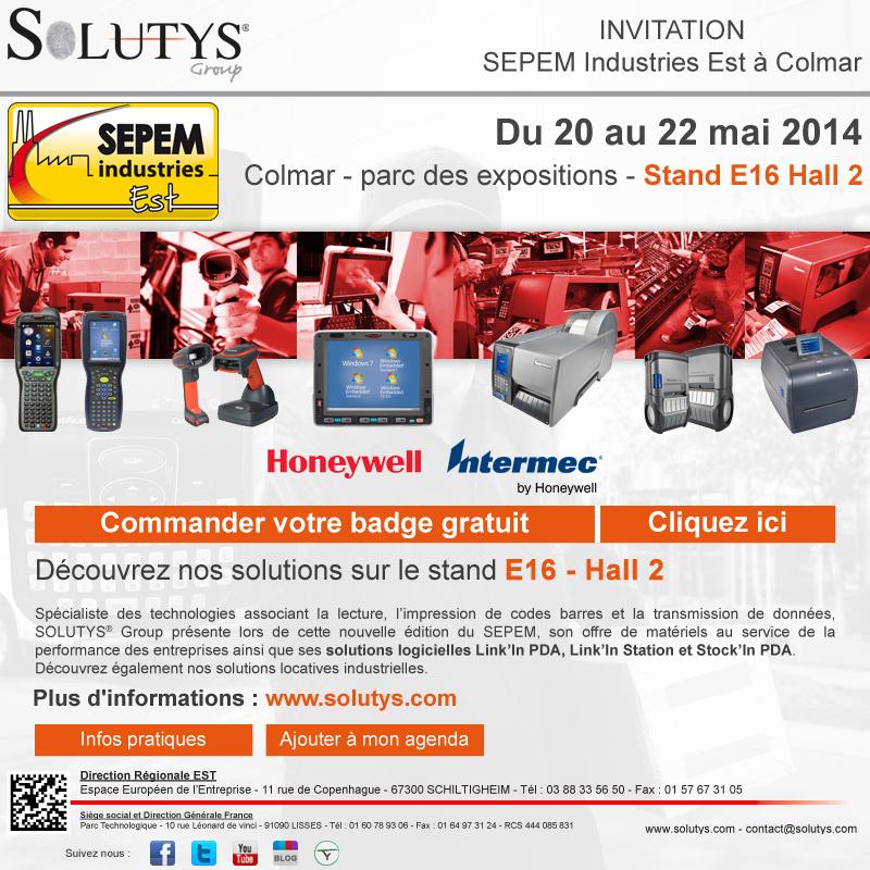 SOLUTYS Group sur le SEPEM Industries Est